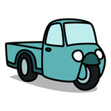 Cartoon Car 15 : Old Three-wheeler