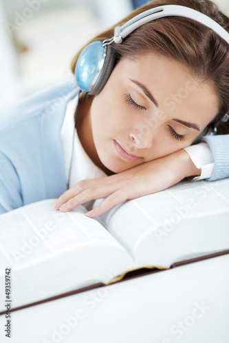 Sleeping on open book