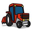 Cartoon Car 19 : Red Tractor
