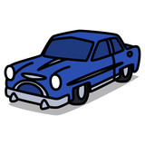 Cartoon Car 18 : Vintage Luxury Vehicle
