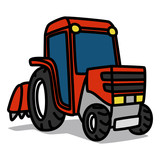 Cartoon Car 19 : Red Tractor