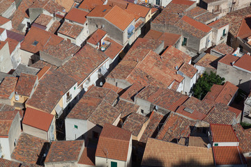 Closely packed roofs in Cefalu old town