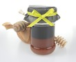 buckwheat honey with wooden accessories