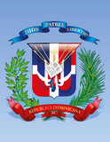 Vector Coat of arms of the Dominican Republic