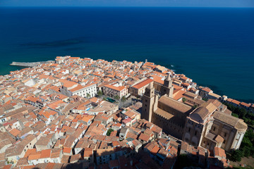 Cefalu Cathedral and old town