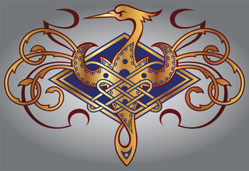 Celtic design for your artwork and tattoos - zoomorph motifs