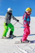 Two girls on the ski