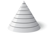 Vector Cone Eight Levels, Vectorial 3d Shape