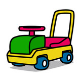 Cartoon Car 22 : Leg-powered Toy Car