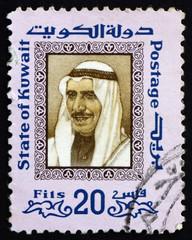 Postage stamp Kuwait 1975 Sheikh Sabah, Emir of Kuwait