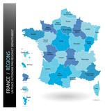 France - Régions (un tracé autonome par zone)
