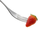 Speared strawberry