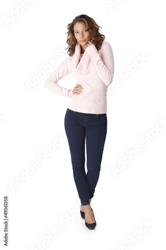 Full length portrait of beautiful woman