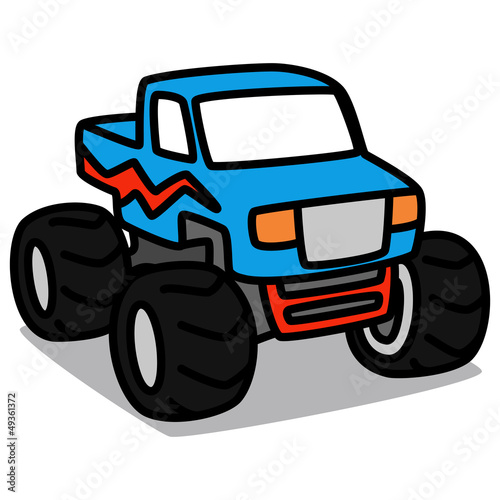 Cartoon Car 23 : Monster Truck by katooonline, Royalty free vectors ...
