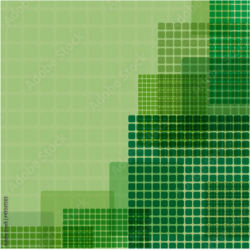 green squares of different size on a green background
