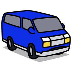 Cartoon Car 25 : Blue Van