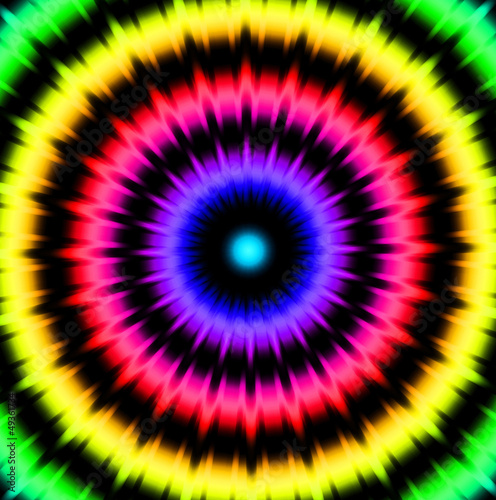Kaleisdoscope style abstract retro background