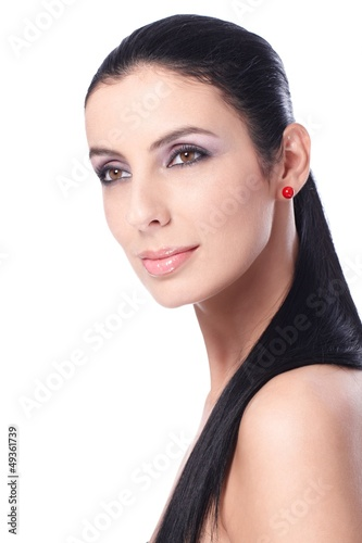 Beauty portrait of attractive female