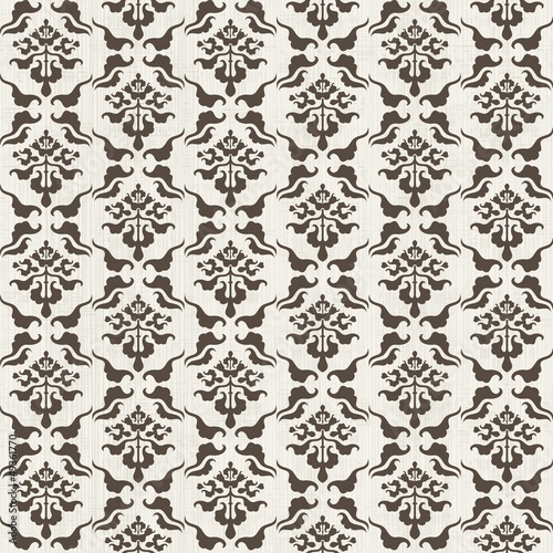 seamless damask pattern with Victorian motif