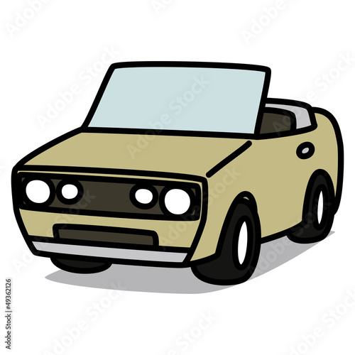 Cartoon Car 26 : Gray Convertible