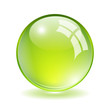 Vector green glass ball