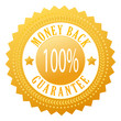 Vector money back guarantee seal
