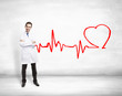 doctor and drawing cardiogram