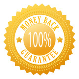 Vector money back guarantee seal