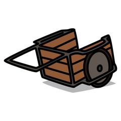 Cartoon Car 28 : Wooden Cart
