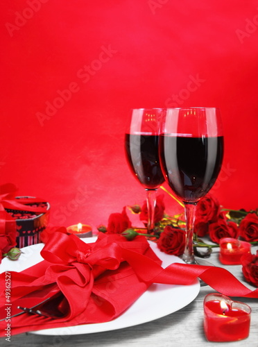 Romantic Candlelight Dinner for Two Vertical