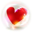Valentines Herz Bokeh