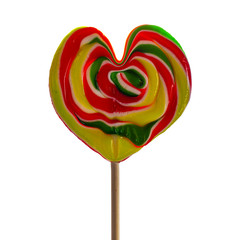 Heart lollipop.
