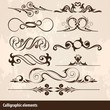 Calligraphic Vector Design Elements Collection
