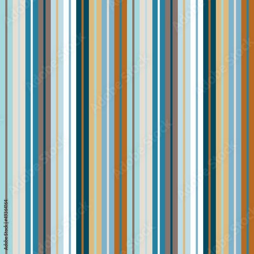 Seamless Pattern Wide/Narrow Stripes Retro - 49364164
