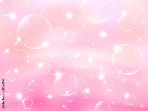 ピンク シャボン玉 風景