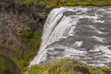 Top of Skogafoss waterfall - Iceland. poster