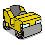 Cartoon Car 31 : Road Roller