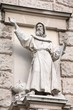 Christian missionary statue at Hofburg, Vienna, Austria