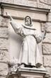 Christian missionary statue at Hofburg, Vienna, Austria