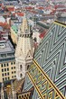 Vienna aerial view with Stephansdom cathedral