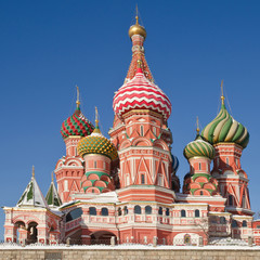 Intercession Cathedral on Red Square in winter, Moscow