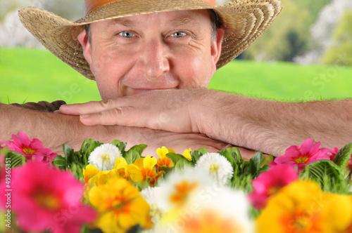 Gärtner im Frühling