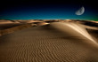 Leinwanddruck Bild - Night in desert