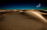 Fototapeta ciemny - pustynia - Pustynia Piaszczysta