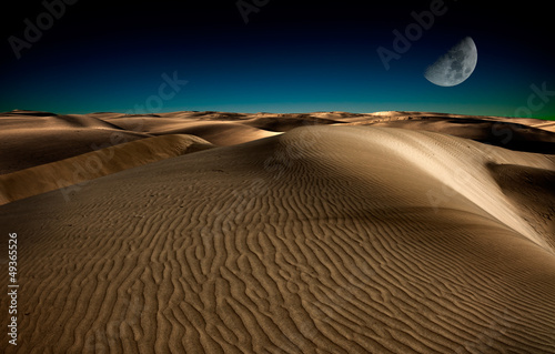 Spoed canvasdoek 2cm dik Egypte Night in desert