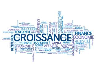 """Nuage de Tags """"CROISSANCE"""" (économique économie finance argent)"""