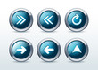 Web navigation icons set vector illustration