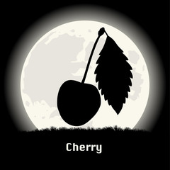 Cherry silhouette at night