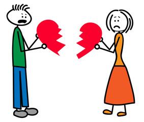 Zerbrochene Beziehung