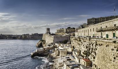 Harbor of Valetta with Bell Tower Memorial, Malta